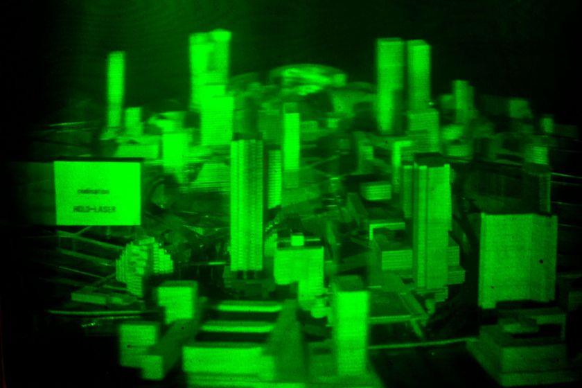 hologramme d'une maquette du quartier de la défense
