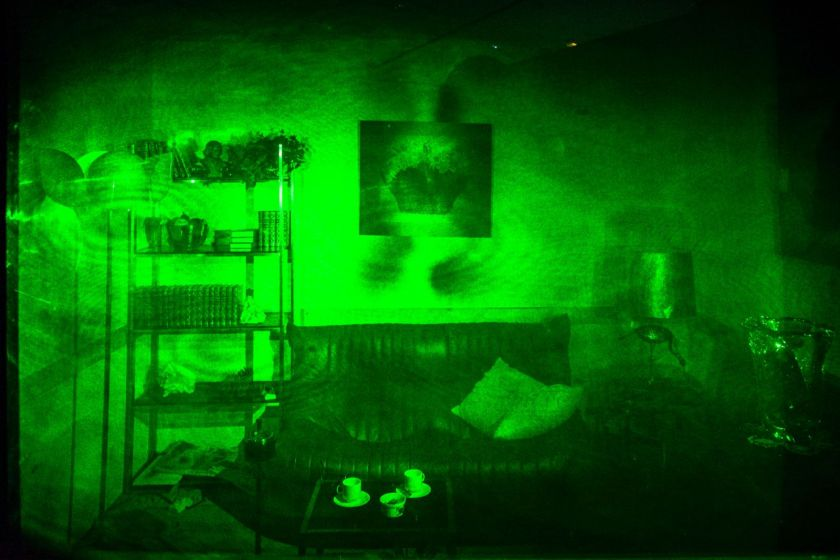 Hologramme d'un salon. Oeuvre de Paula Dawson.