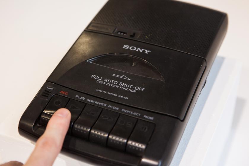 Un lecteur de cassette autoreverse