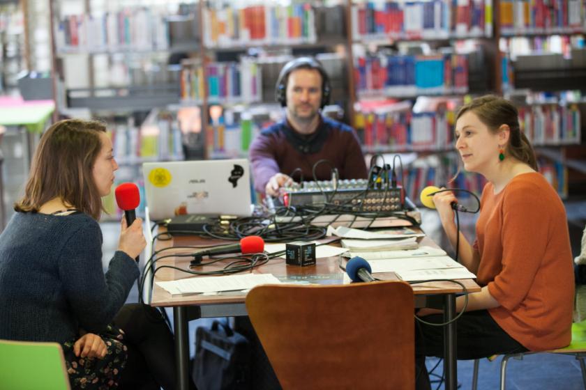Plateau mobile de radio campus à la Bouloie