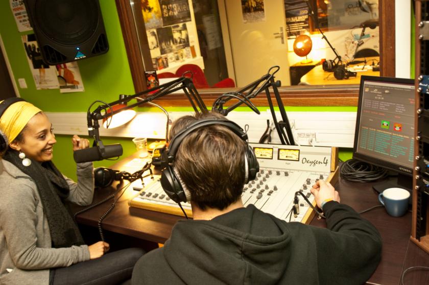 Le studio de radio campus à la Maison des étudiants
