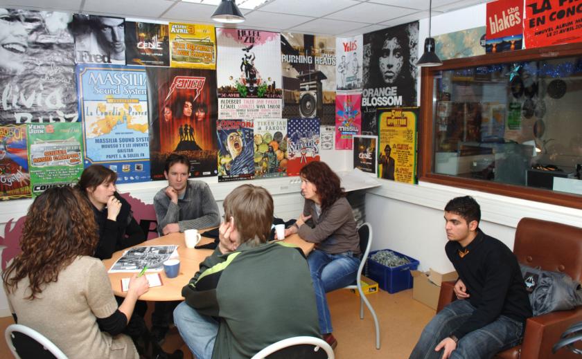Les anciens locaux de radio campus.