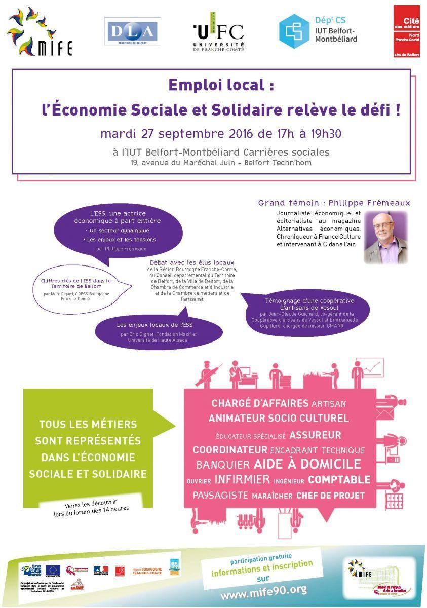 Emploi local l conomie sociale et solidaire rel ve le - Chambre de l economie sociale et solidaire ...