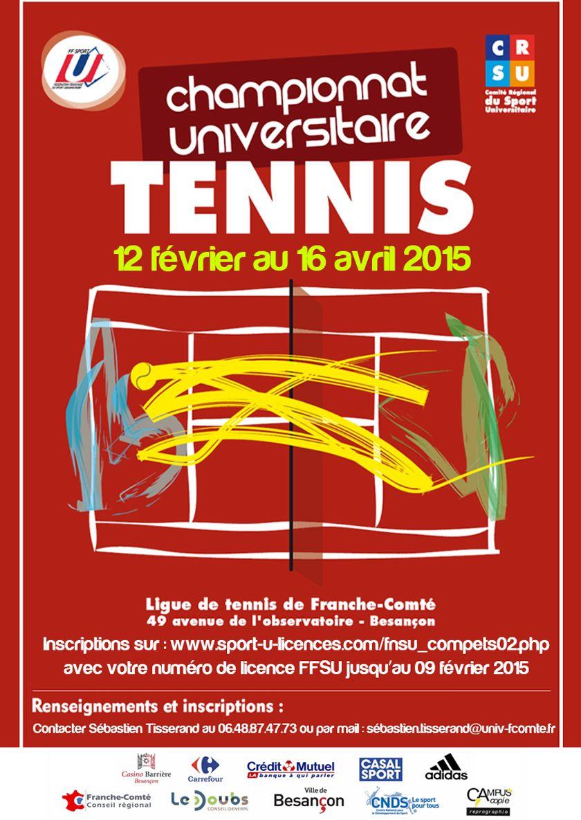 Finale du championnat de tennis l 39 actu de l 39 universit - Ligue de franche comte tennis de table ...