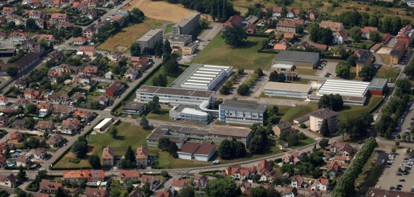 Vue aérienne du campus de Belfort