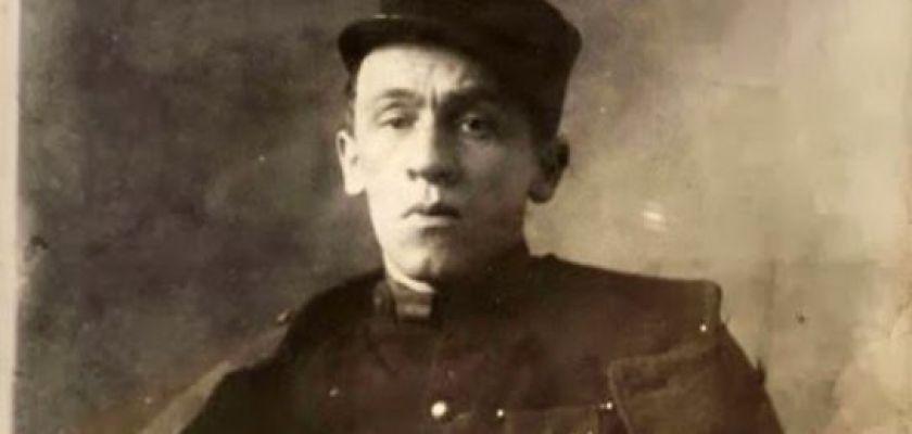 Portrait de Blaise Cendrars après son amputation.