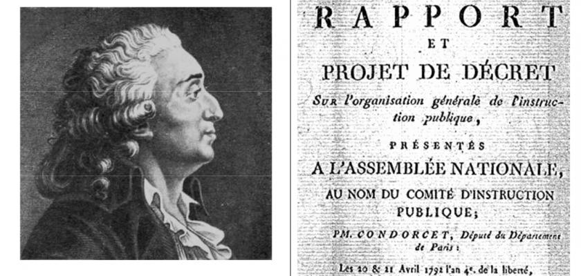 Portrait de Condorcet et extrait de texte