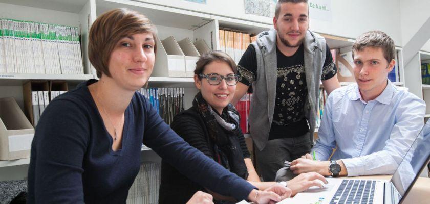 Les quatres étudiants qui ont participé au festival