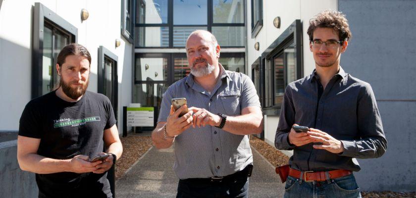 Marc Briot, Fabrice Bouquet et Emmanuel Ahr, les trois créateurs de FLEX App.