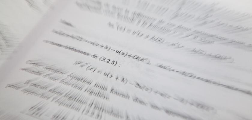 Photo de formules mathématiques