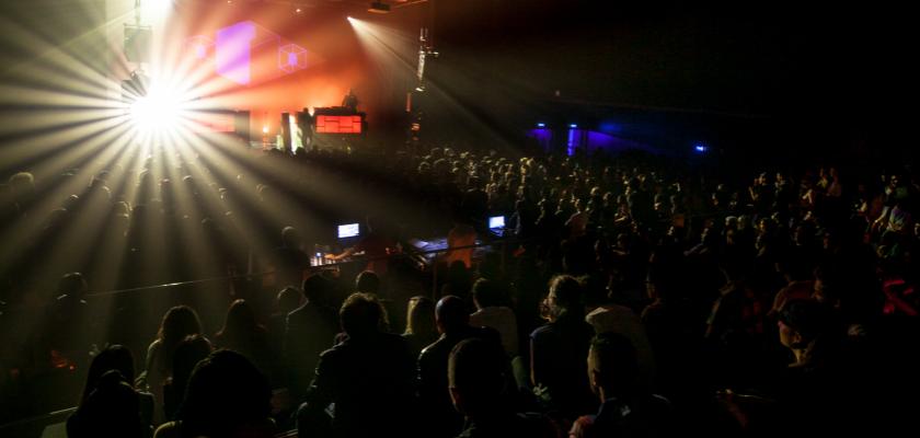 Une scène de concert