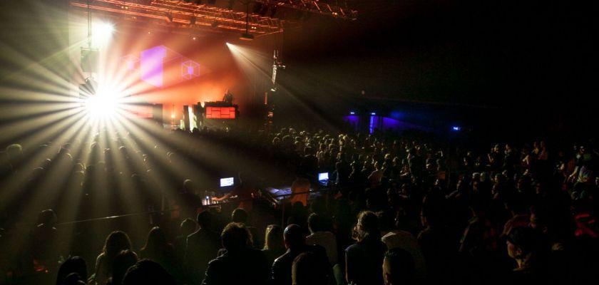Photo prise pendant un concert à la Rodia