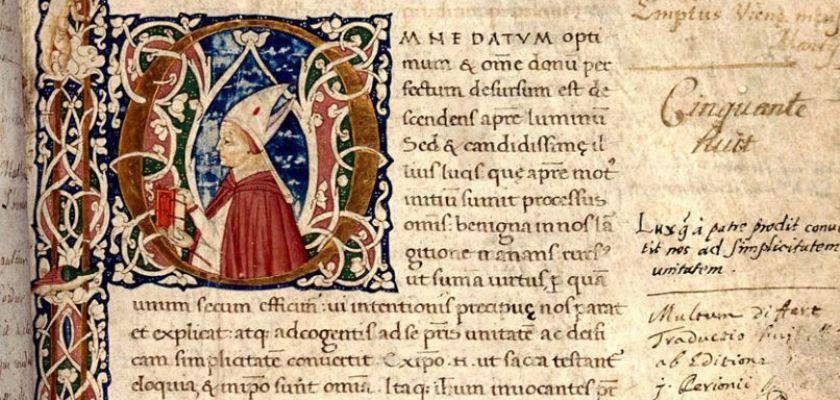 Denys l'Aéropagite (pseudo), manuscrit, parchemin