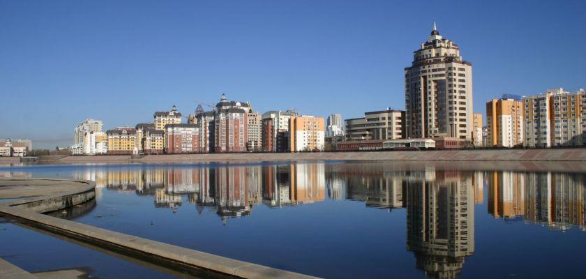 Une vue de la ville d'Astana
