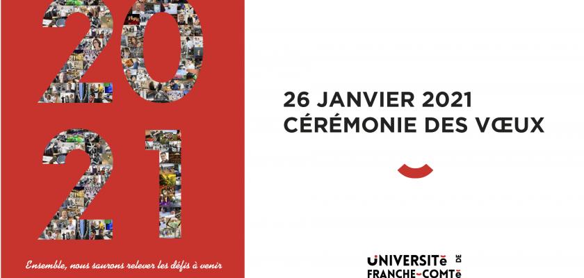 Cérémonie des vœux 2021 de l'université de Franche-Comté