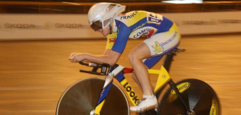 Soline Lamboley en compétition, cyclisme sur piste