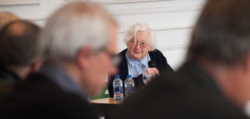 Colette Bourlier pendant sa thèse