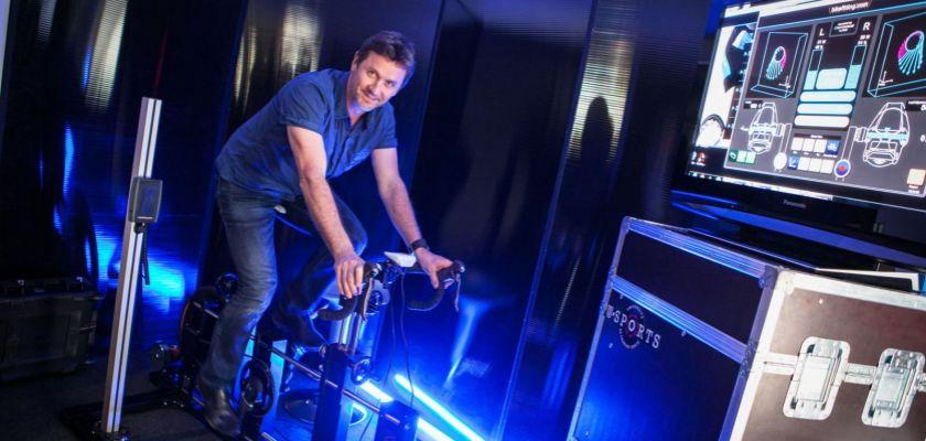 Frédéric Grappe sur le vélo Bikefitting