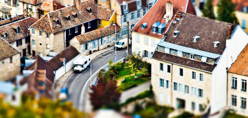 Paysage urbain avec un effet de maquette