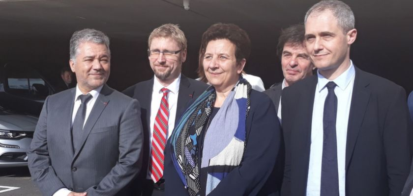 Photo de groupe : Jacques Bahi, Nicolas Chaillet, Frédérique Vidal, Jacques Grosperrin et Laurent Larger