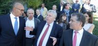 Visite du secrétaire d'État Harlem Désir à Besançon.
