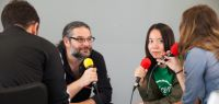 Plateau de Radio Campus pendant la journée d'accueil à Montbéliard