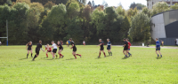 Séance de rugby en plein air