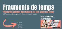 [JACES 2021 - EN LIGNE] « Fragments de temps », proposition poétique des étudiants en arts du spectacle