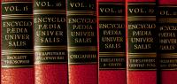 Photos de volumes d'encyclopédie