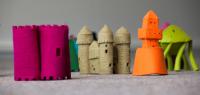 Des maquettes de bâtiments en feutre. Plaid Houses de Laure Tixier