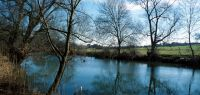 Paysage d'hiver avec rivière