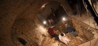 Fouille dans la crypte de l'église Notre-Dame