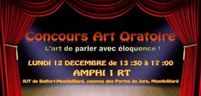 Concours d'art oratoire à l'IUT de Belfort-Montbéliard (département GACO)
