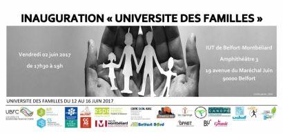 Inauguration Université des familles le 2 juin à l'IUT de Belfort-Montbéliard