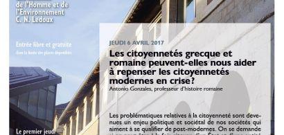 Affiche conférence A. Gonzales, cycle Les jeudis de la MSHE