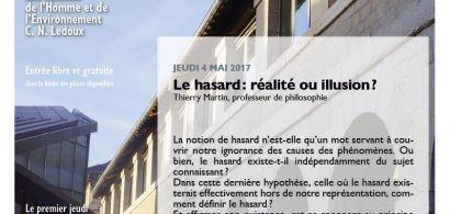 Affiche conférence Th. Martin, cycle Les jeudis de la MSHE