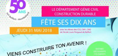Le département Génie civil – Construction durable de l'iUT de Belfort-Montbéliard fête ses 10 ans avec des écoliers