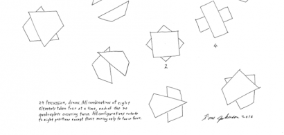 Schéma de l'œuvre de Tom Johnson