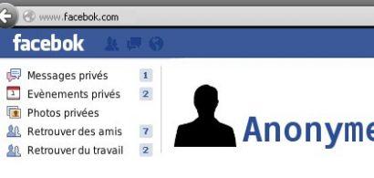Copie écran d'un réseau social