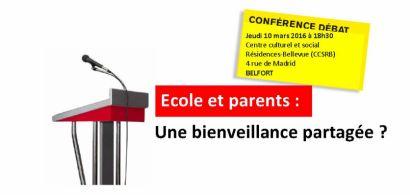 Conférence Ecole et parents : une bienveillance partagée ? avec Eric Debarbieux