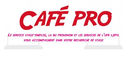 Affiche présentant l'évenement Café pro 2015