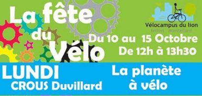 C'est la fête du vélo avec Vélocampus du lion à l'IUT de Belfort-Montbéliard du 10 au 15 octobre