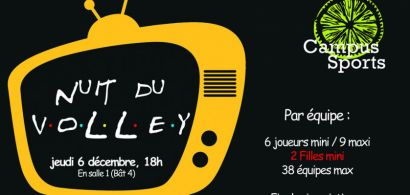 Affiche Nuit du volley