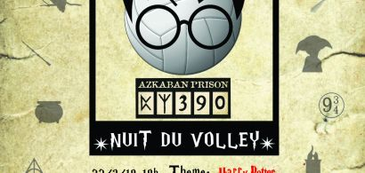 Affiche Nuit du volley Campus Sports
