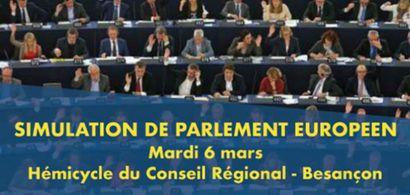 affiche simulation parlement européen