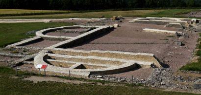 Site archéologique d'Alésia à proximité d'Alise sainte Reine