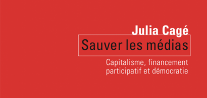 Couverture du livre de Julia Cagé