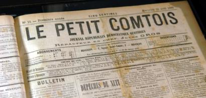 Un ancien numero du journal Le Petit Comtois