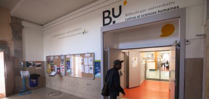Entrée de la BU Lettres et sciences humaines