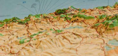 Carte en relief de l'Algérie